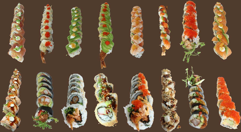 alle sorter sushi
